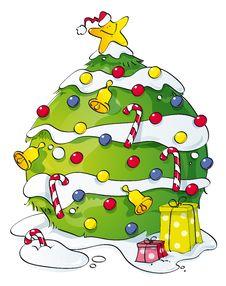 Funny Christmas Tree Stock Photography