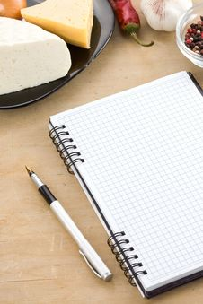 Free Open Notebook Cookbook Royalty Free Stock Photo - 21023775