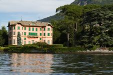 Old Villa On Lake Como, Italy Royalty Free Stock Image