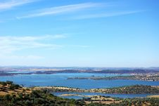 Free Landscape Of Alqueva Lake Near Monsaraz . Royalty Free Stock Photography - 21024687