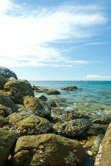Free Stone On Sea Royalty Free Stock Photography - 21025347