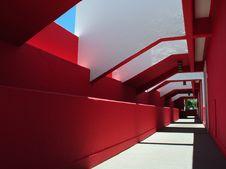 Free Long Colorful Corridor Royalty Free Stock Photo - 21025705