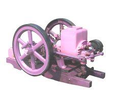 Free Vintage Kerosene Engine Painted Purple And Pink Stock Photography - 21025772