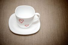 Free Empty White Cup Royalty Free Stock Image - 21026066