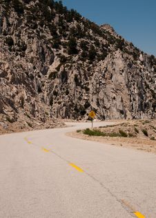Free Narrow Windy Single Lane Road Stock Photography - 21026212