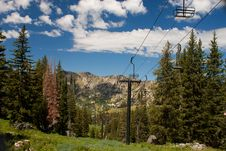 Summertime Ski Lift Royalty Free Stock Photography