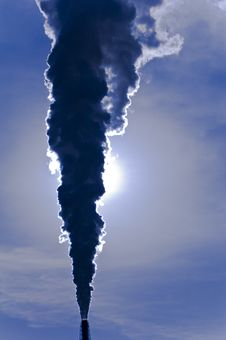 Free Smoke Stack Pollution Silhouette Royalty Free Stock Photos - 21026548