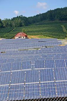 Solar Farm (v) Stock Images
