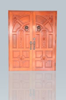 Free Wood Door Royalty Free Stock Photo - 21027425