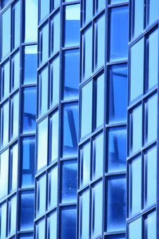 Free Blue Glass Wall Of Building Stock Image - 21028401