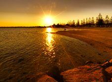 Free Bright Red Sunset Stock Photo - 21028520