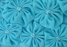 Free Blue Fabric Flowers Stock Photography - 21028542
