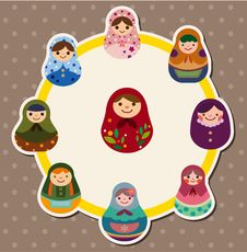 Free Cartoon Doll Card Stock Photo - 21028870