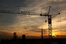 Free Construction Crane Royalty Free Stock Photos - 21029068