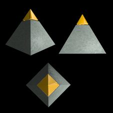 Free Isolated Gold-tipped Pyramid Stock Images - 21029334