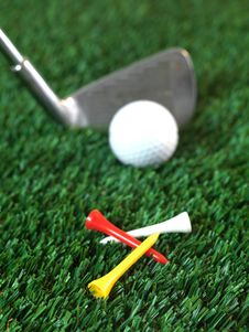 Golfing Royalty Free Stock Images