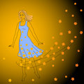 Free Dancing Girl And Maple Leaves. Stock Photography - 21030682
