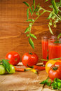 Free Composition Of Tomato Juice And Tomato With Peper Stock Photography - 21031522