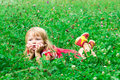 Free Beautiful Girl In The Meadow Stock Photography - 21031542