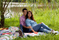 Free Attractive Couple Under Willow Tree Royalty Free Stock Image - 21039046