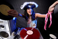 Free Cool DJ In Action Royalty Free Stock Photos - 21039308