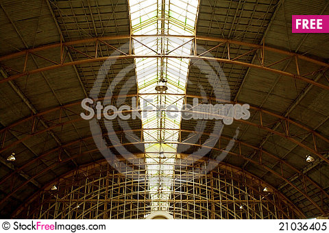 Free Roof Of Railway Station Royalty Free Stock Photo - 21036405