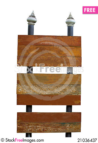 Free Board Sign Isolated Royalty Free Stock Photography - 21036437