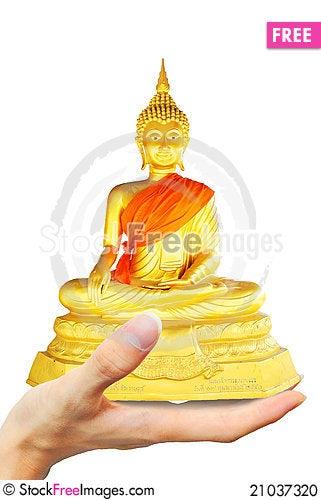 Free Hold Budbha Image Stock Photo - 21037320