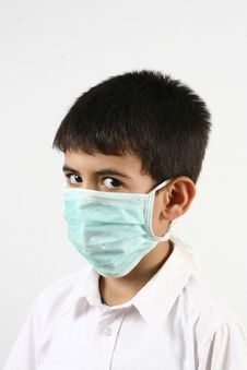 Free Little Boys And A Mask Royalty Free Stock Photo - 21030305