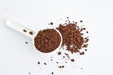 Free Coffee Powder On White Stock Image - 21030721