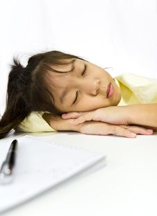 Free Young Woman Sleeping Stock Image - 21031431