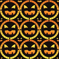 Free Scary Halloween Pattern Royalty Free Stock Photo - 21031725