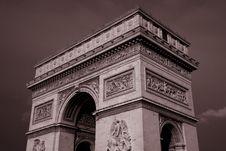 Free Arc De Triomphe, Paris Stock Image - 21032251