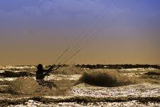 Free Kite Surfing Royalty Free Stock Photos - 21032288