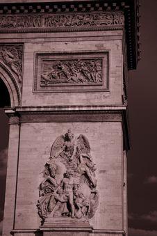 Free Arc De Triomphe, Paris Royalty Free Stock Photo - 21032325