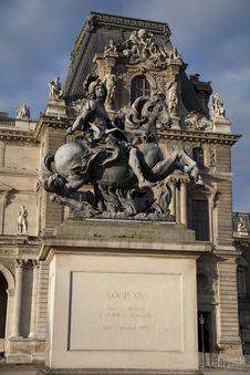 Free Louis XIV Statue, Paris Stock Photography - 21032362