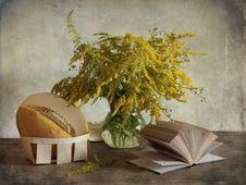 Bouquet And Melon Stock Photos