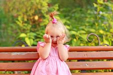 Free Laughing Little Girl Royalty Free Stock Image - 21032566
