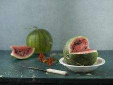 Free Two Water-melons Royalty Free Stock Images - 21032689