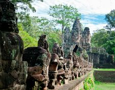Free Eastern Gate Of Angkor Stock Image - 21033051