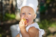 Free Cute Little Cook. Stock Photos - 21033103