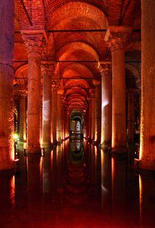 Free Yerebatan - Underground Basilica Cistern. Royalty Free Stock Image - 21034396