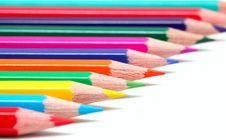 Free Colorful Pencils On White Surface Stock Photo - 21034740