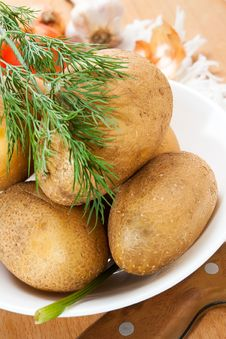 Free Potatoes Royalty Free Stock Photo - 21035275