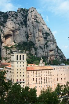Free Mountain Abbey Of Montserrat Royalty Free Stock Photo - 21035565