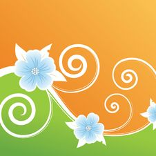 Floral Design. Vector Illustration Royalty Free Stock Images