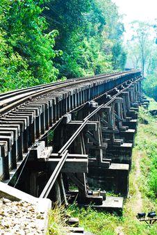 Free Railway In Kanchanaburi Stock Photography - 21037152