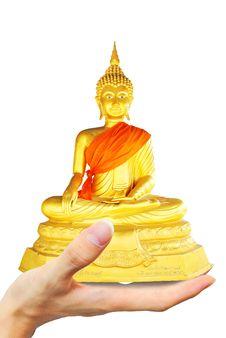 Hold Budbha Image Stock Photo