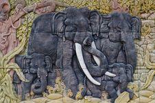 Free Elephant Sculptures. Royalty Free Stock Photos - 21037588