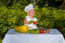 Free Happy Little Cook. Stock Photography - 21039422